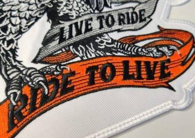 Naszywka na motocykl